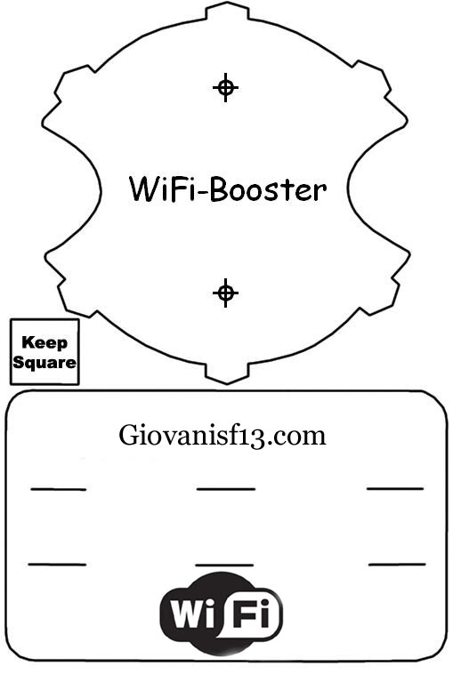 Nextcube wifi for Windsurfer antenna template